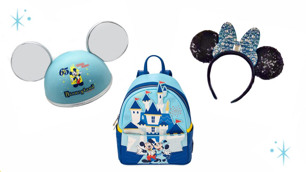 Mini backpack by Loungefly featuring Sleeping Beauty Castle, iconic ear hat and sparkling headband
