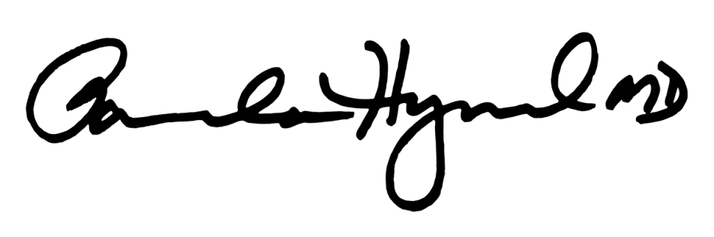signature of Dr. Pamela Hymel