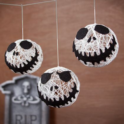 Disney Craft Idea! Jack Skellington String Garland! 2