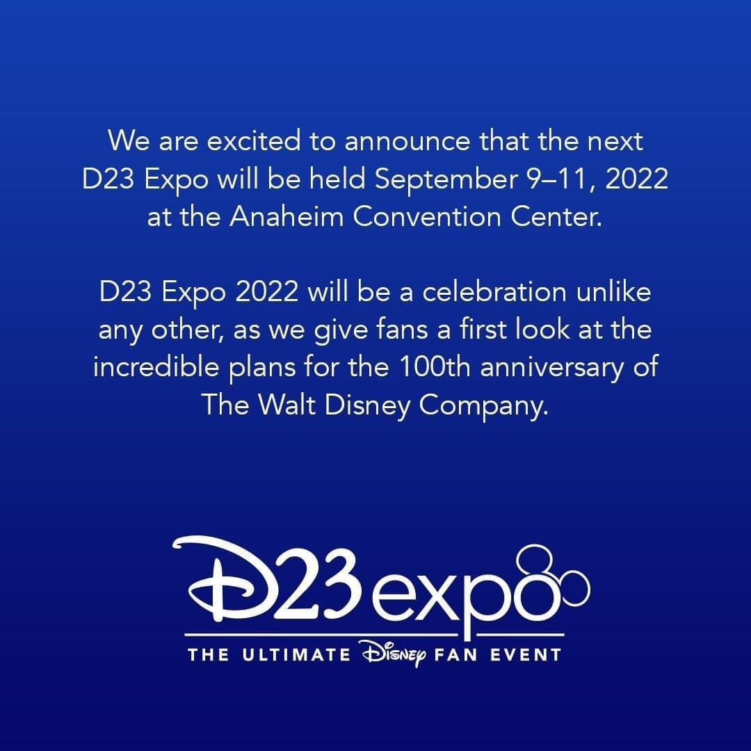 D23 Releases Date for the Next Expo! 2