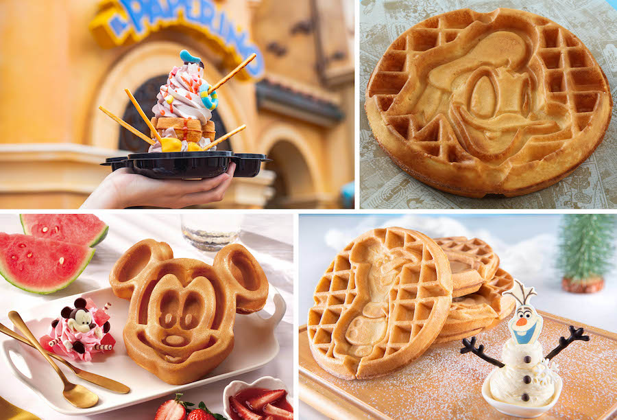 Specialty Waffles from Il Paperino, Remy's Patisserie, and Troubadour Treats at Shanghai Disneyland Resort