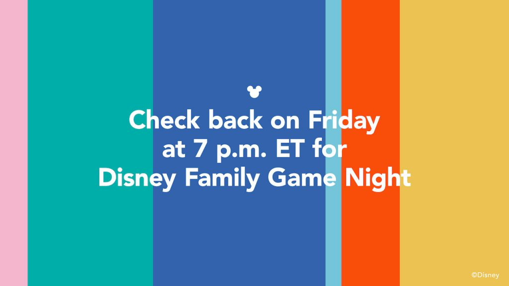 #DisneyMagicMoments: Disney Family Game Night Debuts Friday Night at 7PM ET 2