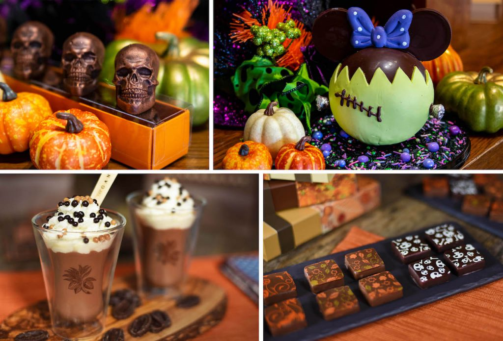 Collage of Disney Springs fall treats