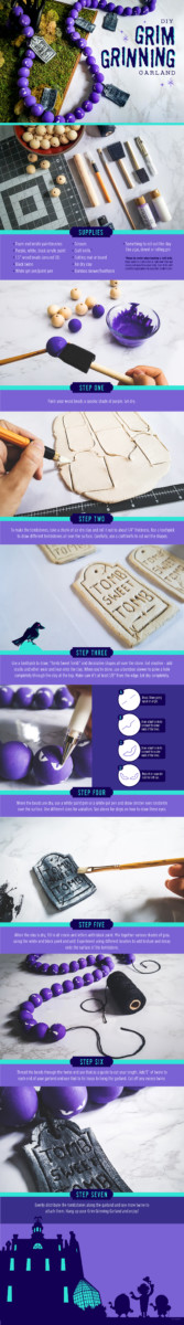 #DisneyMagicMoments: Creating Grim Grinning Garland and Other Haunted Mansion-Inspired DIY Favorites for Halloween 2