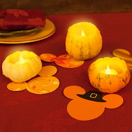 Thanksgiving Mickey Table Decorations and Mini Gourd Lanterns ~ DIY 2