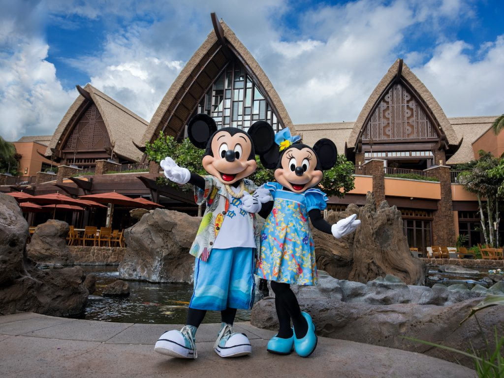 Mickey and Minnie Mouse at Aulani, A Disney Resort & Spa