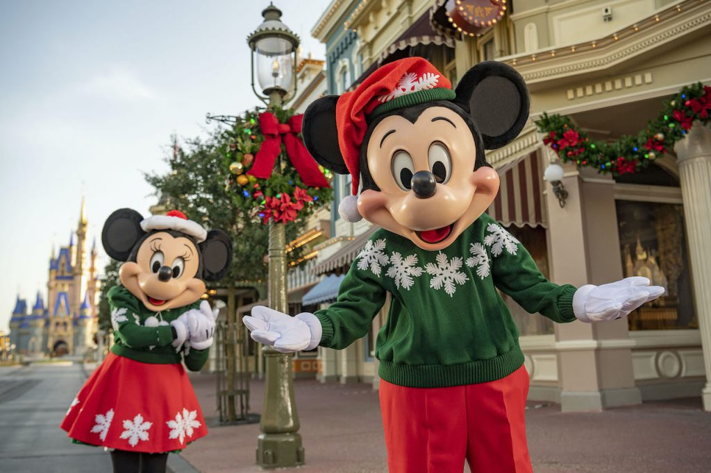 Mickey and Minnie Mouse at Walt Disney World Resort