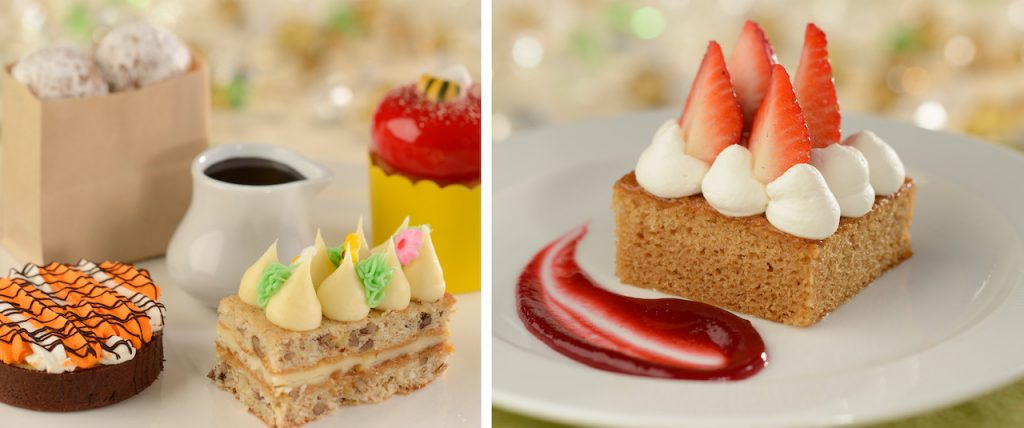 Collage of desserts from The Crystal Palace