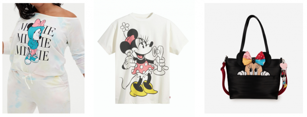 Minnie Mouse-inspired accessories and attire from shopDisney