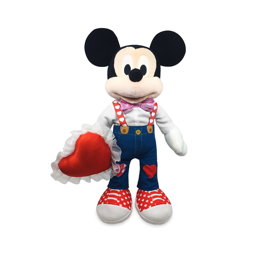 Valentine's Day-themed Mickey Mouse plush