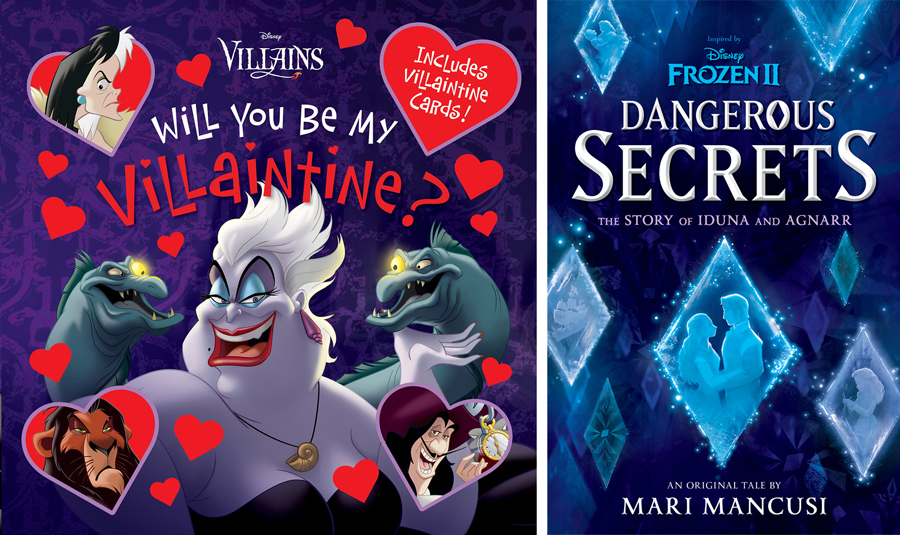 """""""Will You Be My Villaintine?"""" and """"Frozen 2: Dangerous Secrets: The Story of Iduna and Agnarr"""" Books"""