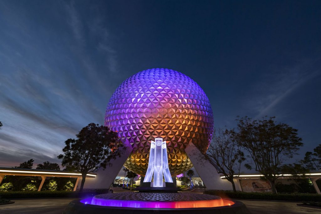 New Entrance Fountain at EPCOT